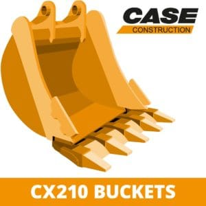 case CX210 digger bucket excavator attachment