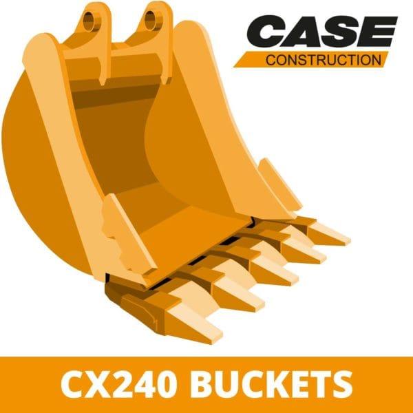 case CX240 digger bucket excavator attachment