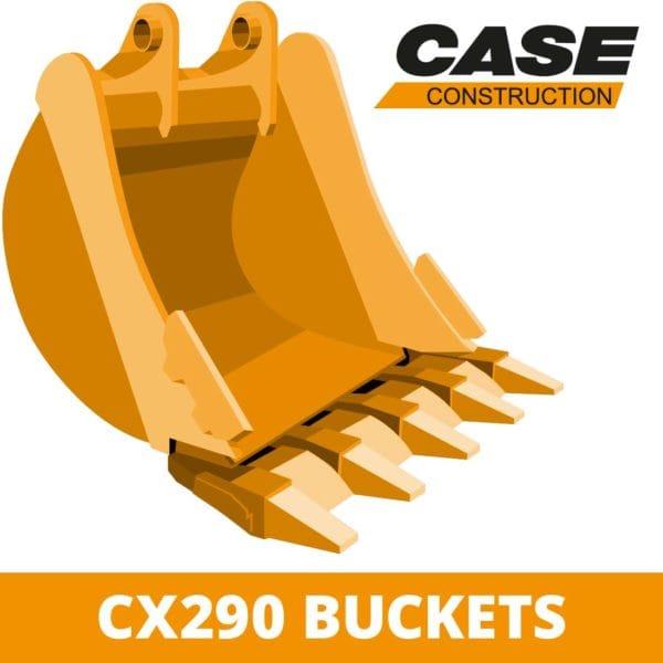 case CX290 digger bucket excavator attachment