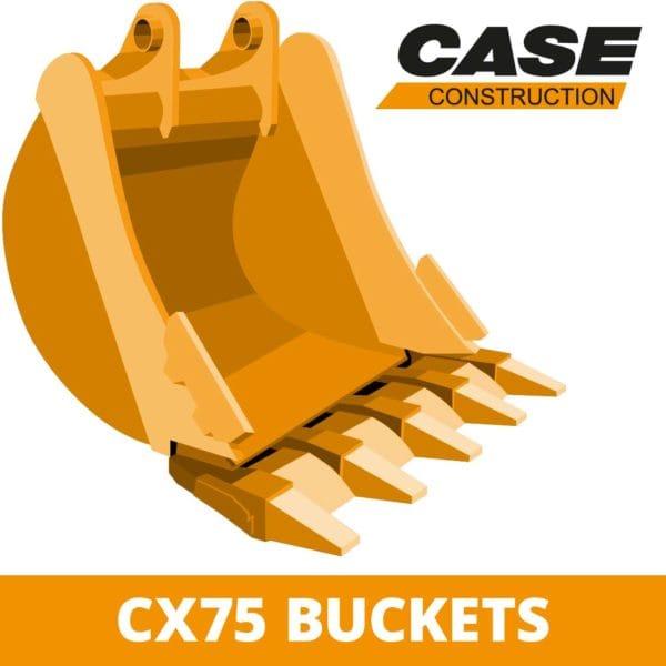 case CX75 digger bucket excavator attachment