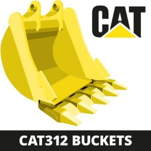 caterpillar CAT312 excavator digger bucket