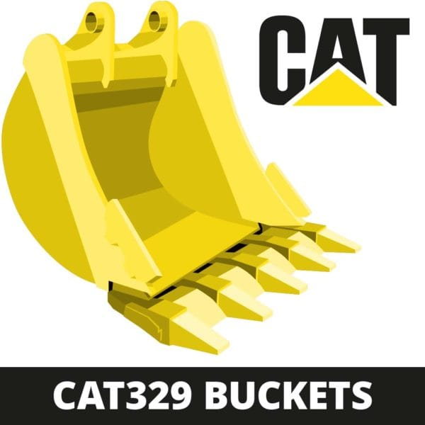 caterpillar CAT329 excavator digger bucket