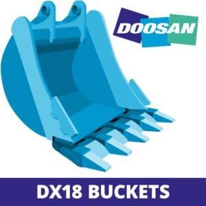 doosan DX18 excavator digger bucket