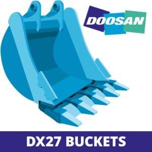 doosan DX27 excavator digger bucket