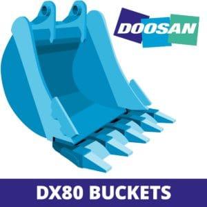doosan DX80 excavator digger bucket
