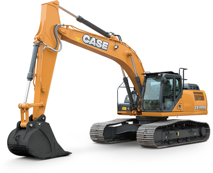 Case digger buckets and excavator attachments