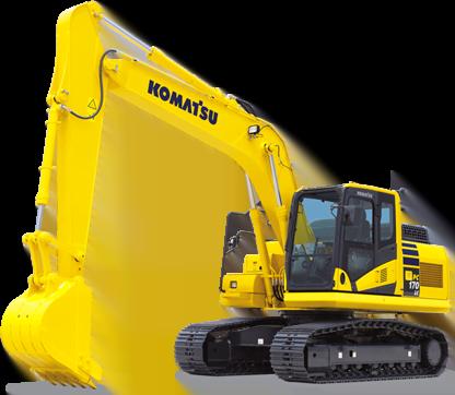 Komatsu digger buckets and excavator attachments