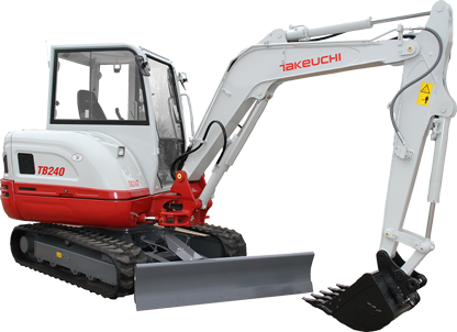 Takeuchi digger buckets and excavator attachments
