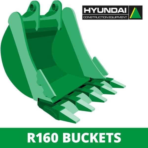 hyundai r160 excavator digger bucket