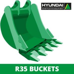 hyundai r35 excavator digger bucket