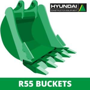 hyundai r55 excavator digger bucket