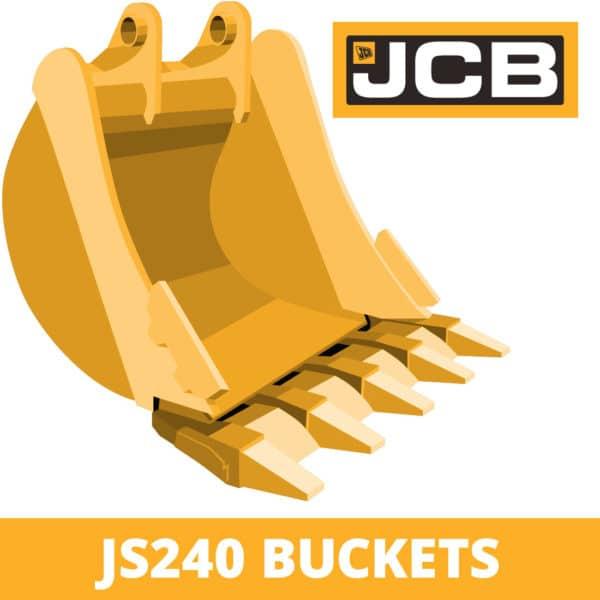 jcb js240 excavator digger bucket
