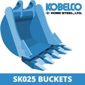 kobelco sk025 excavator digger bucket