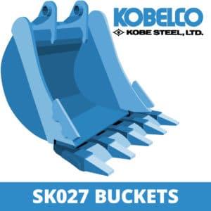 kobelco sk027 excavator digger bucket