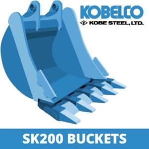 kobelco sk200 excavator digger bucket