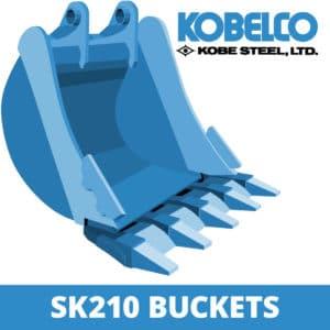 kobelco sk210 excavator digger bucket