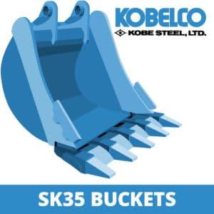 kobelco sk35 excavator digger bucket