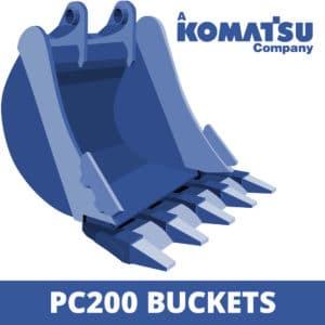 komatsu pc200 excavator digger bucket
