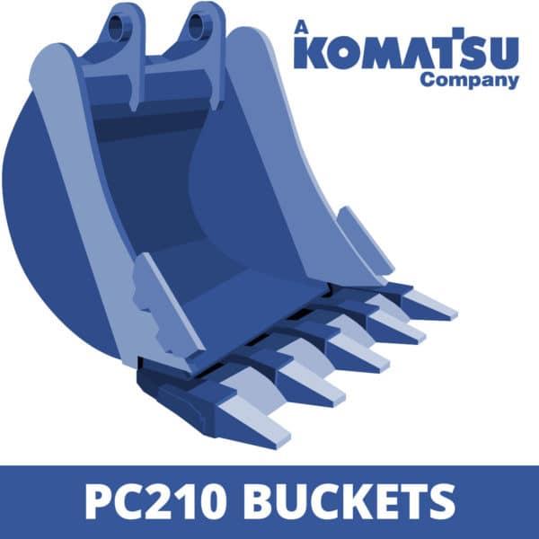 komatsu pc210 excavator digger bucket
