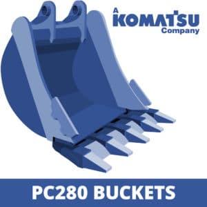 komatsu pc280 excavator digger bucket