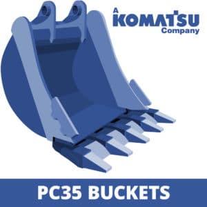 komatsu pc35 excavator digger bucket