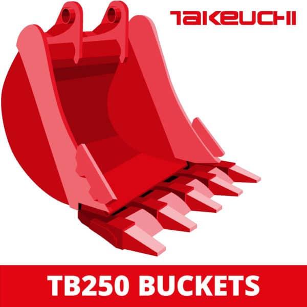 takeuchi tb250 excavator digger bucket