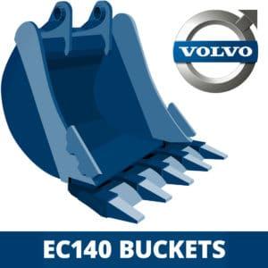 volvo ec140 excavator digger bucket