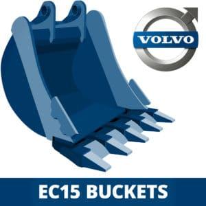 volvo ec15 excavator digger bucket