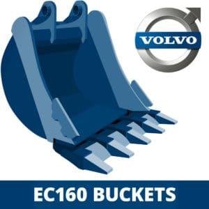 volvo ec160 excavator digger bucket