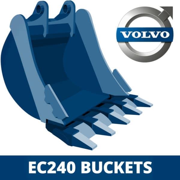 volvo ec240 excavator digger bucket