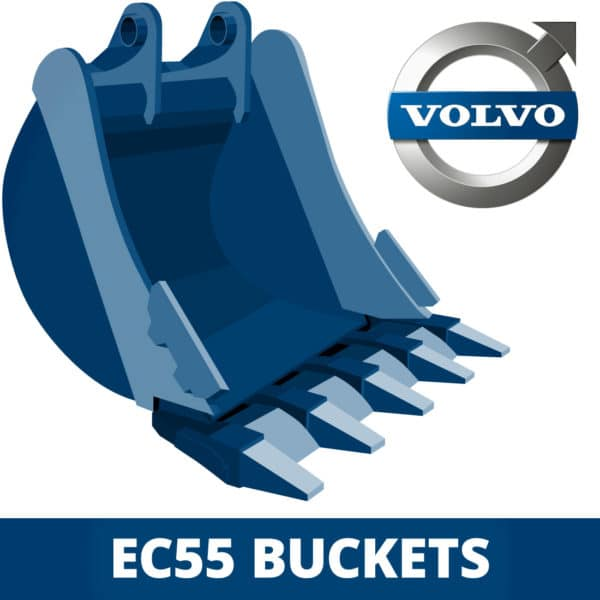 volvo ec55 excavator digger bucket