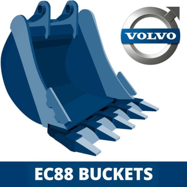 volvo ec88 excavator digger bucket