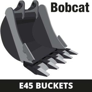 bobcat e45 mini digger buckets