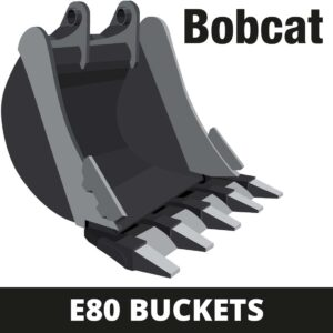 bobcat e80 mini digger buckets